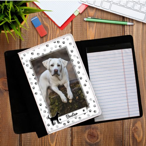Personalised Dog Pawprint PHOTO Notepad Notebook with paper N9
